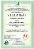 certifikat nar 9001:2016