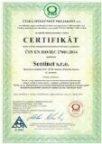 certifikat sentinet 27001:2014