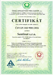 certifikat sentinet 9001:2016