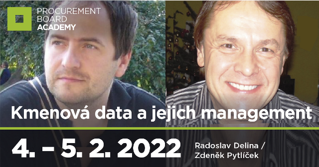 Kurz Digitální nákupní tým, modul 8: KMENOVÁ DATA A JEJICH MANAGEMENT