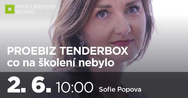 PROEBIZ TENDERBOX - co na školení nebylo